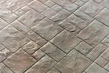 Concrete imprinted