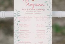 Wedding Menus / Programs / Seating / by Gillian Morgan