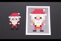 Pixel art/ perler Jul