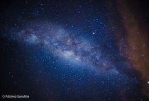 Céu da noite / Minhas fotos de paisagens com estrelas, Lua e Via Láctea