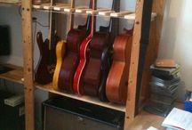 Guitare rangement