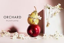 Orchard / Fresh and sweet, Boodles 'Orchard' collection features the playful symbol of pear shaped charms, lightly dusted with diamonds.