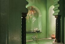 Green master bath / Furniture goes into home decor