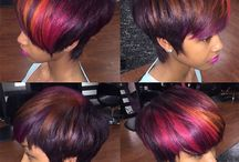 Haircuts for Black Women / Short haircuts for black women. Nice hairstyles with plenty of fierce color in the hair. The shorter cuts are bold.