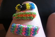 loom bands / some of my loom bands