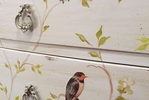 Hand painting on furniture