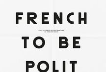 French Fonts & typography