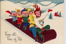 A Vintage Christmas / Vintage Christmas cards and decorations