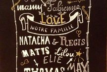 Mes cartes calligraphiees