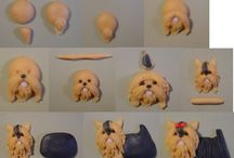 Perritos de ceramica