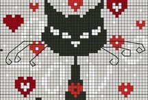 Krížik mačky / by Martina Matiskova