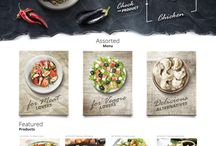 Web layouts - food & wine