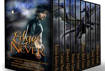 Edge of Never Paranormal & Urban Fantasy Box Set / Join us at the Edge of Never ... Obliterate the lines between fantasy and reality with nine spine-tingling tales from your favorite bestselling and award winning authors. Dragons, gods--fallen and otherwise--ghosts, vampires. A touch of steampunk. More than a splash of romance. From magical lands to a chilling glance into post World War II Europe, Edge of Never has something to tempt everyone.