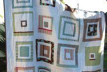 Quilts - Modern Log Cabin
