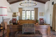 Spanish Mission Estate- S.B. Long Interiors / This project required careful consideration in choosing artisan materials to celebrate the Spanish Mission aesthetic of the house, while seamlessly accommodating state-of-the-art technology, such as the Ferarri racing simulator.