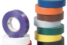 Electrical Tape / Industrial Electrical Tape can be used for protecting against electrical shorts by jacketing connections for high voltage cable splices and repairs.  Comes in various colors to color code or to use as a personal preference.