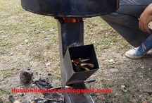BBQ / BBQ Barbecue Grill Pizza Rocket Fire pit smoker