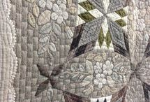 Japanese taupe quilt