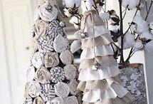 alberi di Natale stoffa