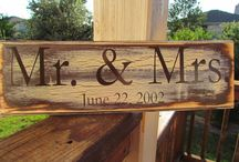 Wooden signs - wedding