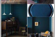 inspiration salon bleu paon
