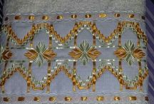 bordado em fitas