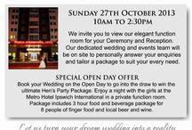 Weddings Ipswich / by Metro Hotels