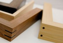 Hand Made Picture Frames in Wood / Contemporary timber frames with natural and sprayed finishes