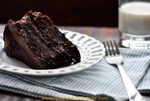 Klam sjokolade en koffie koek