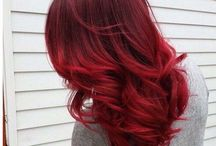 vörös haj szín