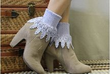 Lace socks, lace boot socks, Made in USA