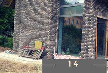 Realizacje budowlane / Na tej tablicy umieszczone zostały zdjęcia wybudowanych przez naszą firmę domków oraz bloków mieszkalnych.