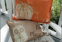 pillows place mats