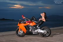 Motorcycle photo shoot / Motor and Gilrs on the road,photo and edit Christo Pap
