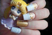 Princess Serenity nails