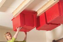 Storage ideas for garage or storage building / by Linda Martin