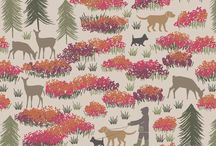 Lewis & Irene: A walk in the glen / A rich Autumnal collection including the hugely popular thistle design brought to you from Lewis and Irene by Juberry Fabrics.  Join us for some fresh air as we take out four-legged friends on a Walk in the Glen with antlers, thistles, dogs and deer.