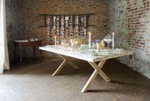 Wedding table sweet almonds