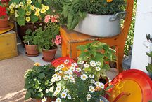 puutarha / kierrätysideoita puutarhaan