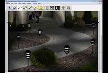 Landscape Lighting Software and Lighting Effects / Landscape Lighting Software and Landscape Lighting Effects allows you to demonstrate the dramatic effects of night lighting for homes or businesses to your potential clients. It is the solution for showing where and how up lights, down lights, path lights, step lights, deck lights, wall lights or architectural lights are going to be placed and illuminated in gardens designs, paver walkways, pools, homes, office buildings really anywhere you would install outdoor lighting.