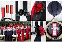 Svatba červeno - černo - bílá svatba