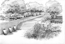 Landscape and gardens sketches