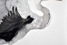 Acuarelas aves