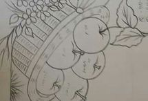 skica zelenina a ovocie