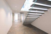 Treppe aus Glas und Holz, glass stairs