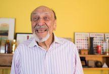 Milton Glaser / Milton Glaser, Nueva York, 1929, Ilustrador y diseñador muy prolífico conocido sobre todo por sus diseños para discos y libros.  Glaser estudio en la conocida Cooper Union entre 1948 y 1951 para continuar su formación en la Academia de Bellas Artes de Bolonia con el pintor Giorgio Morandi. Fundó con Seymour Chwast el Push Pin Studio para, en 1974, crear su propia compañía. Creó el logo de DC Comics. En 1981 creó el conocido símbolo para la campaña I Love New York.