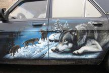 kresby auta