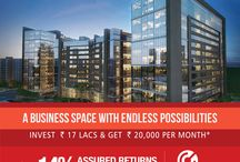 Cyber Business Center / Located at Greater Noida West, Cyber Business Center is a ground plus fourteen floor premium office center spread over 2.5 lac sq.ft. (232260 sq.mtr.), with state-of-the-art facilities for today's fast paced business culture.