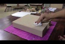 Cartonagem e Caixas / Caixas de mdf, caixas em geral, objetos feitos de papel e papelão
