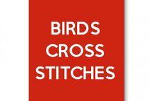 birds cross stitches